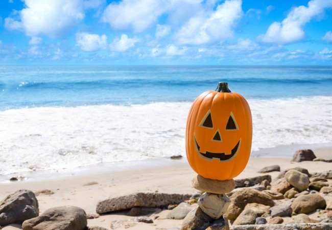Jack-o-Lantern on the Beach