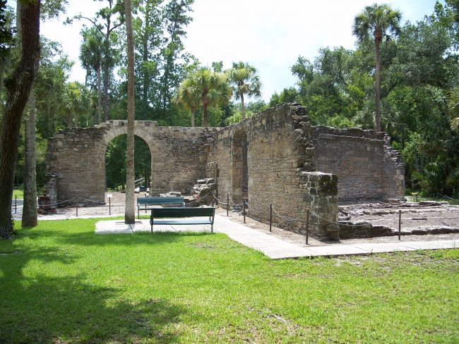 sugar mill ruins new smyrna beach
